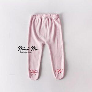 מכנסי רגליות לתינוק דגם פפיון (0-24m)