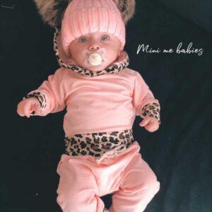 חליפה לתינוקת דגם בריטני ורוד