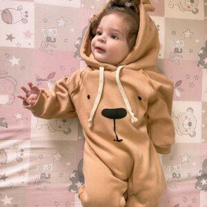 אוברול לתינוקות דגם טדי בר