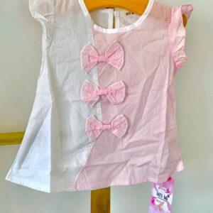 Unique collection – שמלת פפיונים לתינוקת 2 צבעים