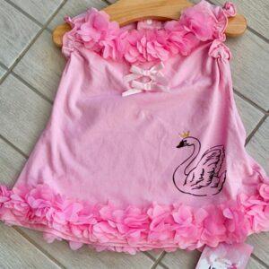 Unique collection – שמלה לתינוקת בגימור פרחים ופפיונים